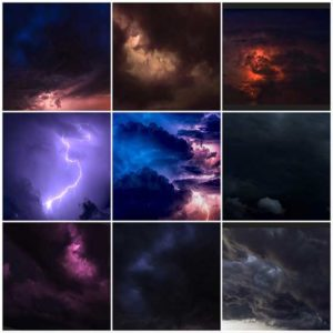 Thunderstorm Skies Overlays