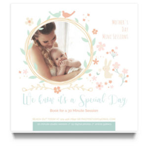 Mother's Day Mini Session Marketing Board Template for Photographers