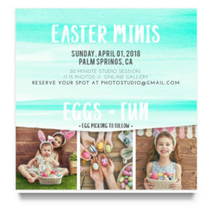Easter Minis Marketing Template for Photographers