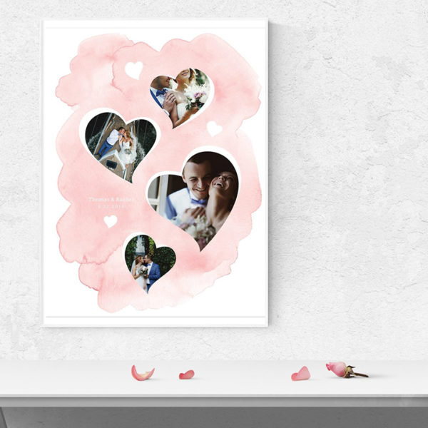 Hearts Wall Art template for photographers