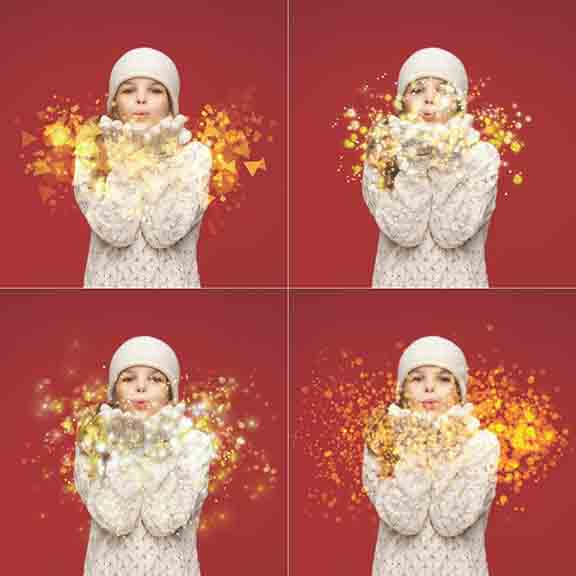 Blowing Glitter Overlays in PNG Format