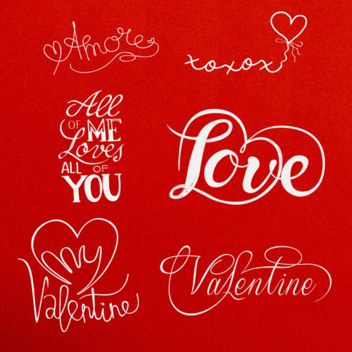Valentines Word Art