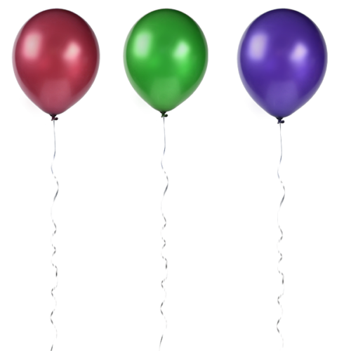 colored balloons png
