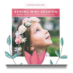 Spring Mini session Marketing Board for Photographer Marketing