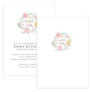 floral bridal shower template