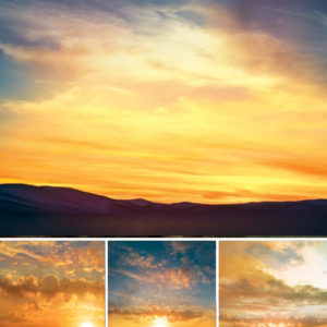 sunset sky digital backgrounds