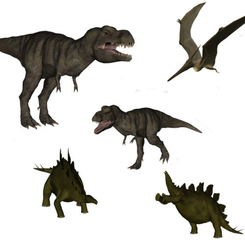 Dinosaur PNG Overlays for Photography Composites and Design
