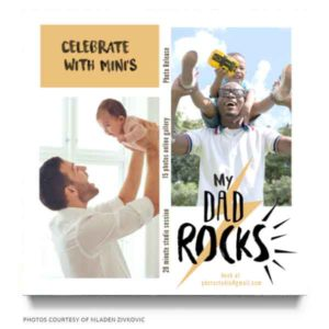 daddy and me minis marketing board