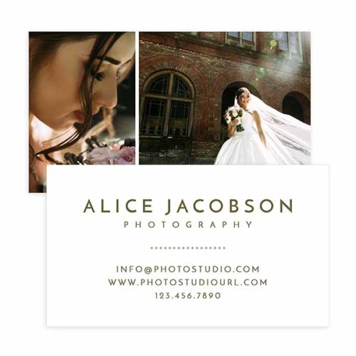 Vintage Style Photography Business Card Template in Photoshop format