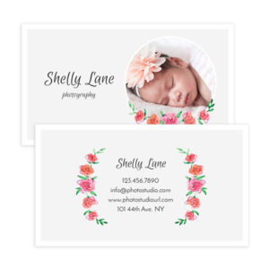 Newborn Photography Business Card Template in Photoshop format