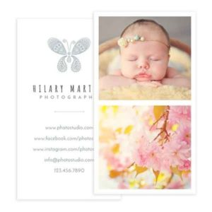 Boho Style Photography Business Card Template in Photoshop