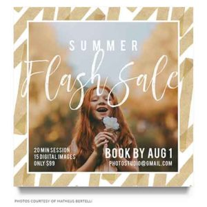 Photographer Summer Sale Marketing Board Template