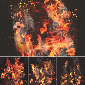 Fire Digital Backgrounds for Sports Photography