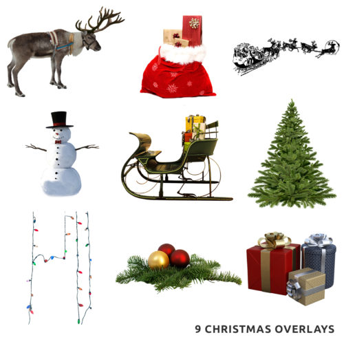 Christmas Overlays for Photoshop
