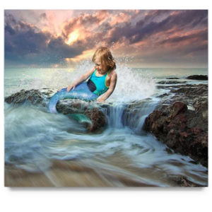 Mermaid Digital Background for Photographers