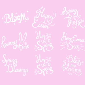 Spring Word Art Overlays