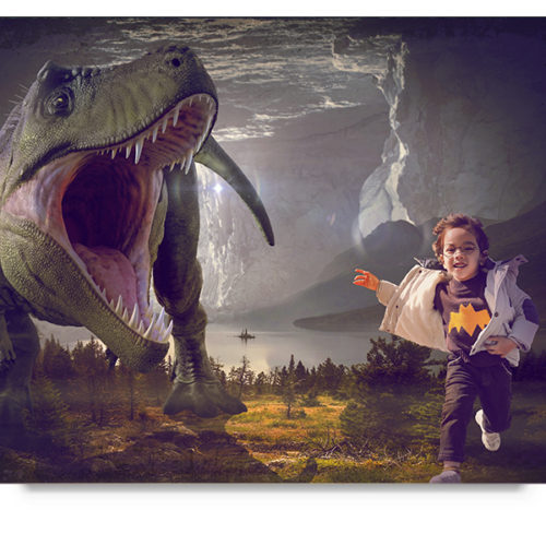 Dinosaur scream digital background