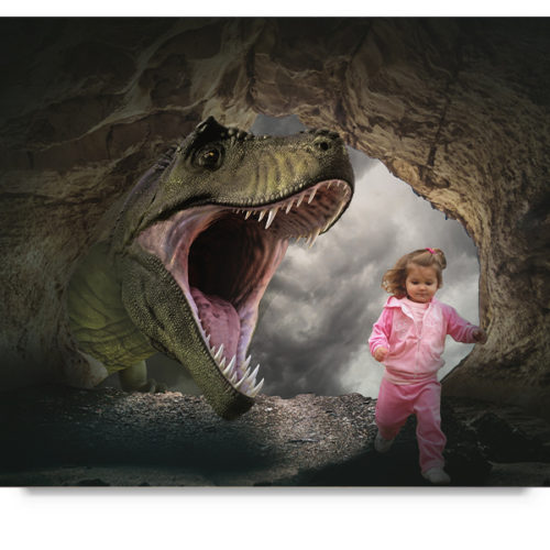 Dinosaur cave digital background