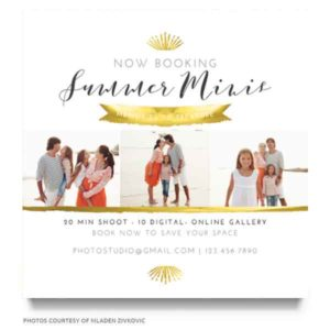 summer photography marketing board template