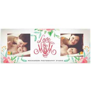 Mother's Day Facebook Cover in PSD format