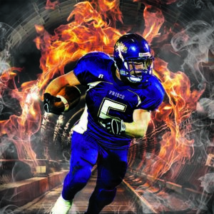 fire tunnel sports background