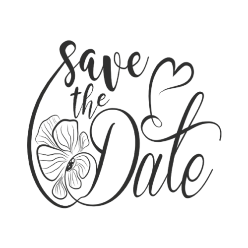 Save the Date Word Art PNG format