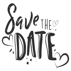 Save the Date Word Art Lettering