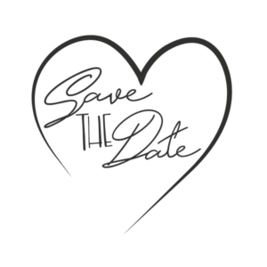 Save the Date Word Art PNG File