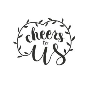 Cheers to us Word Art for Weddings