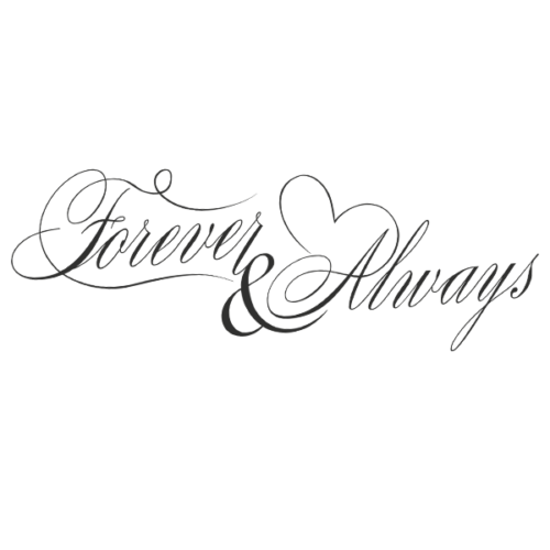 Forever and Always Word Art PNG File