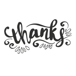 Thanks Word Art in Transparent PNG Format