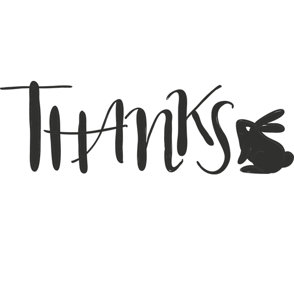 Thank You easter Word Art