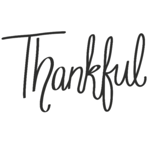 Thankful Word Art PNG