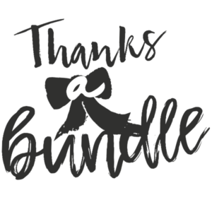 Thanks a Bundle Word Art