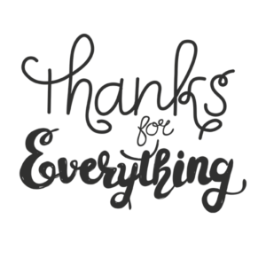 Thanks for Everything Word Art PNG