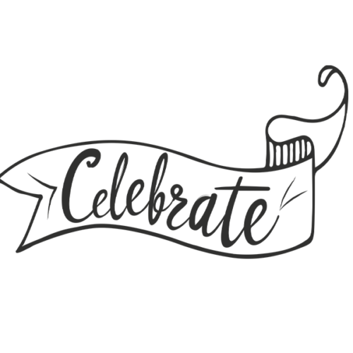 Celebrate Word Art PNG