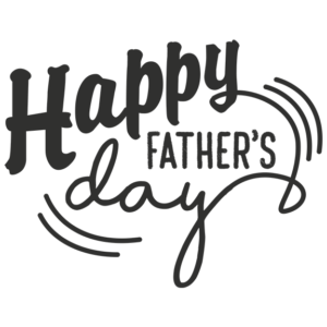 Happy Fathers Day Word Art in Transparent PNG Background file type