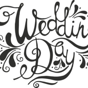 Wedding Day Word Art Transparent PNG File