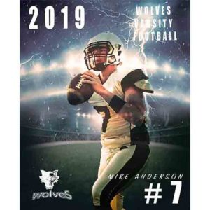 sports football poster template