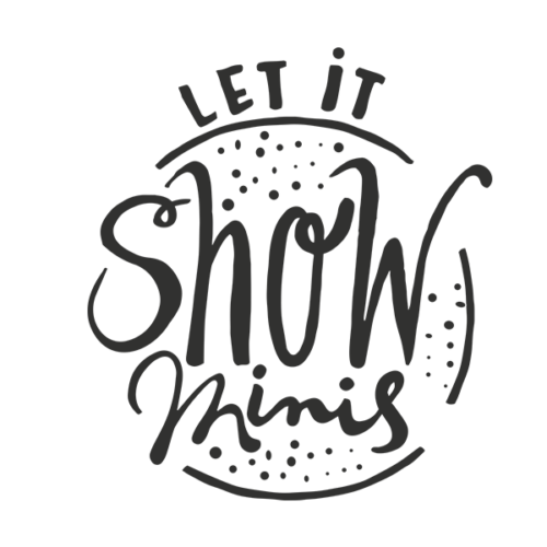 Let it snow minis word art