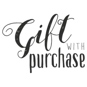 gift with purchase word art