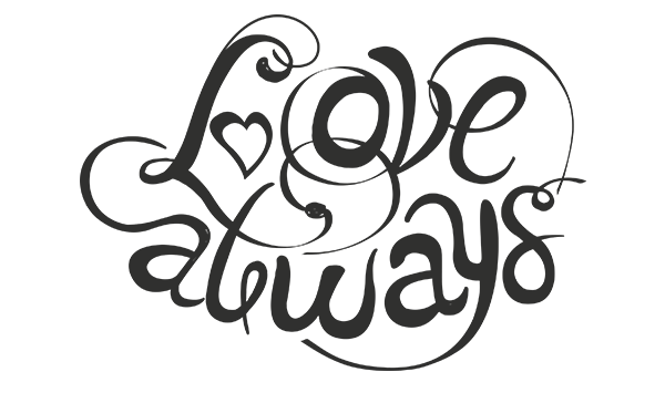 Love Always PNG word Art