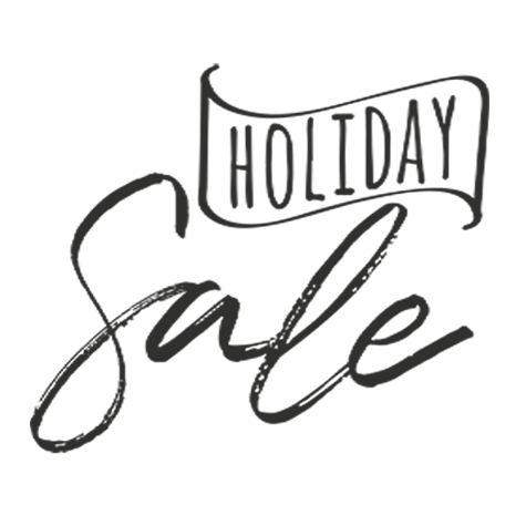 Holiday sale marketing word art png file