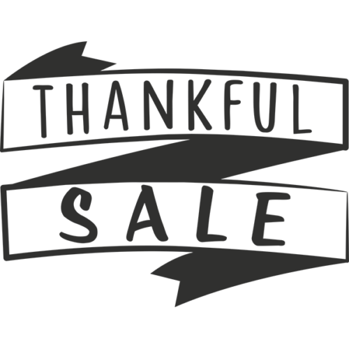 Thankful Sale Word Art