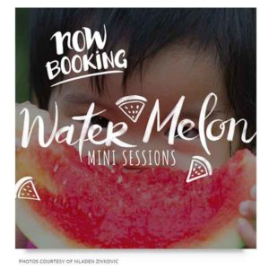 watermelon mini sessions marketing board