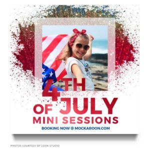 4th of July Mini Session Marketing Board