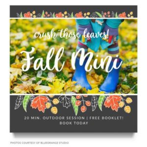 Fall Minis Template for Photographers