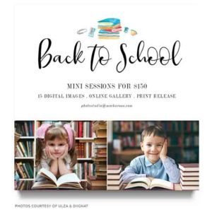 back to school marketing board template for photographers