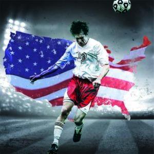 Flag Digital Background for Sports Photography