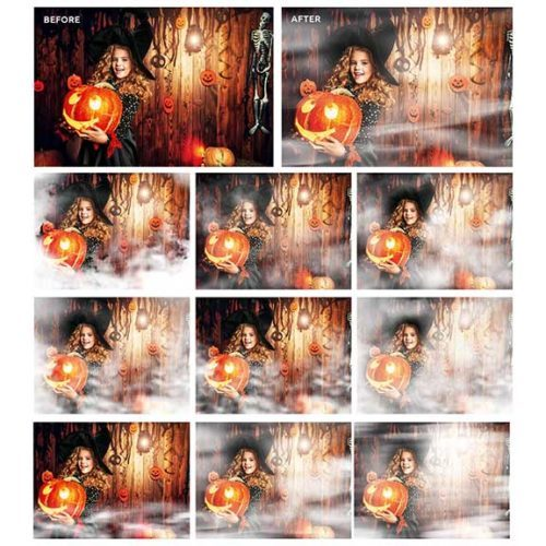 Fog Overlays in PNG format for photo overlays